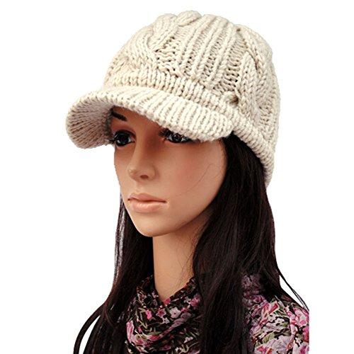 s winter warm knit beanie hat wool ski caps with