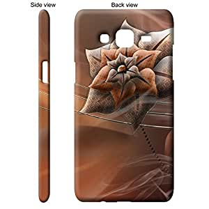 TheGiftKart Brown Flower With Pattern Back Cover Case for Samsung Galaxy J5 - Brown