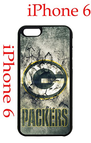 Green Bay Packers iPhone 6 Plus 5.5 Case Hard Silicone Case by Cus2mize