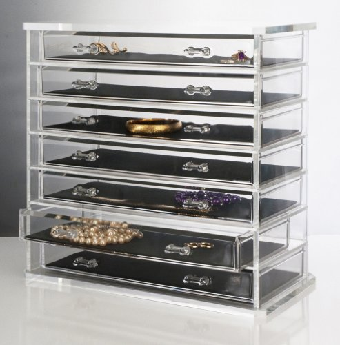 storage organizers : Deluxe 7-drawer Acrylic Jewelry Chest or Cosmetic ...