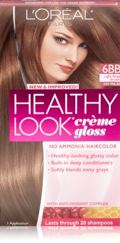 L'Oreal Paris Healthy Look Hair Color, 6BB Light