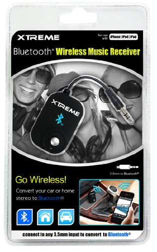 Xtreme Bluetooth Wireless Music Receiver - Retail Packaging - Black