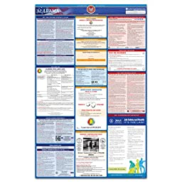 2016 Alabama State, Federal, and OSHA All-In-One Labor Law Poster - Laminated & 100% Compliant