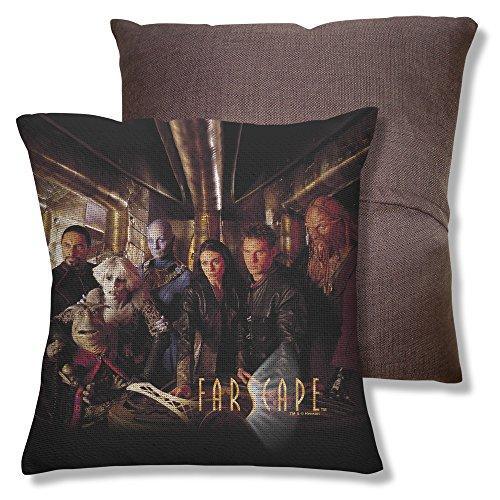 Farscape Sci-Fi Adventure Fantasy Tv Series Moya Crew Throw Pillow
