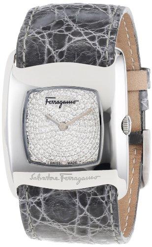 Ferragamo Women's F51SBQ9902F S007 Vara Pave Diamond Interchangeable Strap Watch