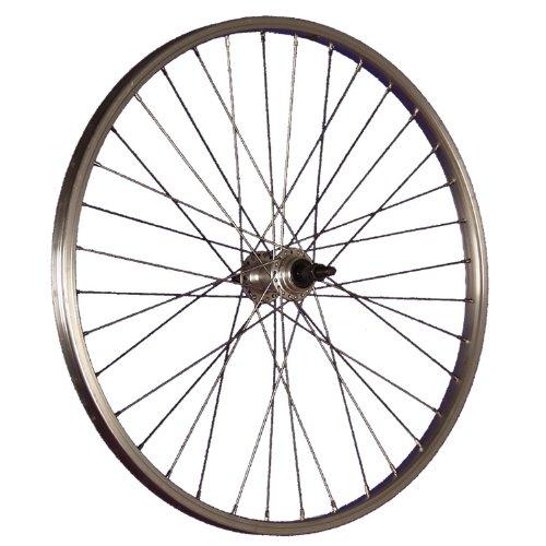 Taylor Wheels 24 Zoll Hinterrad Büchel Aluminiumfelge Schraubkranznabe silber