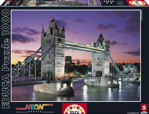 Tower Bridge - London Neon 1000 pc puzzle