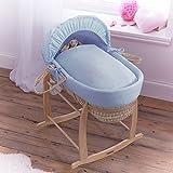 Clair de Lune Cotton Candy Palm Moses Basket, Blue