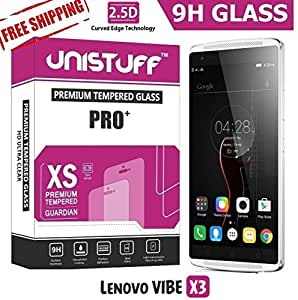 Unistuff™ 2.5D Curve Edge HD Ultra Clear Tempered Glass for Lenovo VIBE X3