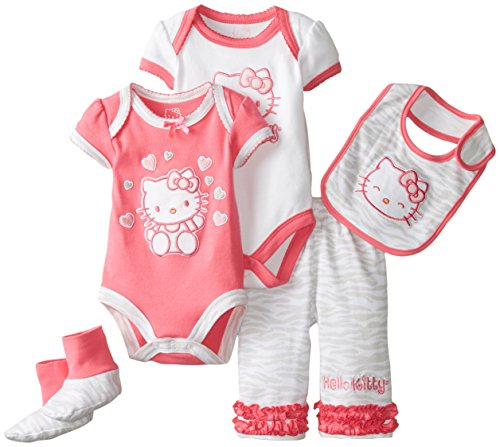 Hello Kitty Baby-Girls Newborn 5 Piece Set Zebra Print