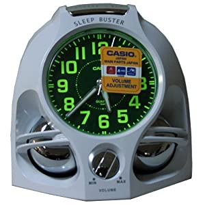 CASIO 10784 TQ-641-7 - Reloj Despertador analógico blanco por CASIO