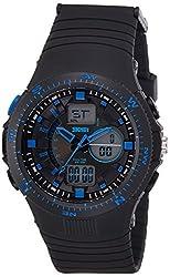 Skmei Analog-Digital Blue Dial Mens Watch - 1198BBBL
