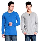 Lemon & Vodka Combo Pack Of 2 Henley Mens Solid Tshirt-CMB-18
