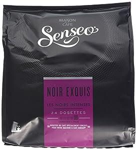Senseo Café Intenses Noir Exquis 24 Dosettes 166 g Lot de 5