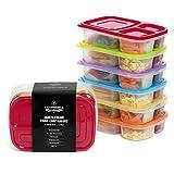 California Home Goods Bento- /Lunchboxen für Kinder, hochwertig, umweltfreundlich, mehrfarbig, mikrowellen-/ spülmaschinenfest, wiederverwendbar, 6 Stück