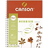 Canson 200005048 Cahier Herbier 48 pages + intercalaires de protection Blanc 180g 24 x 32 cm