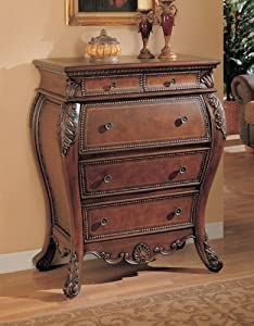 Secretary Bombe Chest with Drop Lid Storage Cabinet