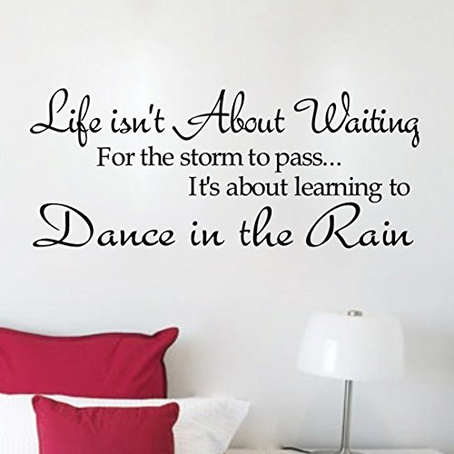 Soledi® New Dance in the Rain Quote Wall Decal Motto DIY Art Wall Decor Vinyl Wall Sticker Removable Transfer Wall Mural Home Bedroom Wall Decorations Hot DIY (Removable Wall Decal Quotes compare prices)