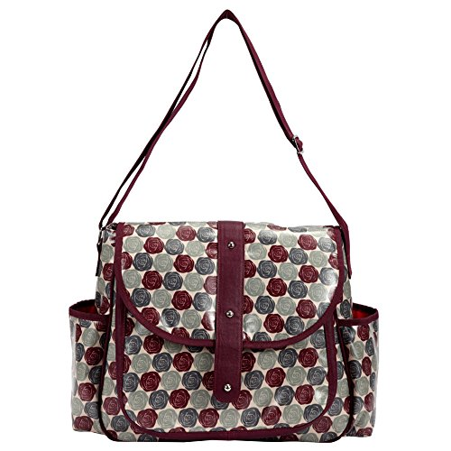 Bellotte Fashion Tote Diaper Bag, Red Rose