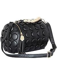 Women Leather Handbag (Black)