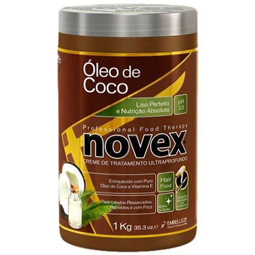 Embelleze Novex Coconut Oil Hair Care Treatment Cream - 35.3 Oz   Embelleze Novex Creme De Tratamento Capilar Com Óleo De Coco - 1Kg