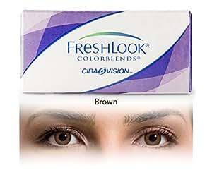 FreshLook Colourblends Zero Power BROWN Monthly