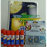 Angry Birds School Essentials- Notebook, Markers, Glue Sticks And Pencil Toppers