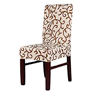 dingang spandex fabric dining room chair covers kitchen