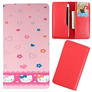 DooDa - For Panasonic T41 PU Leather Designer Fashionable Fancy Case Cover Pouch With Card & Cash Slots & Smooth Inner Velvet