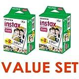 Fujifilm Instax Mini Instant Film, 2 x 10 Shoots x 2Pack (Total 40 Shoots) Value Set