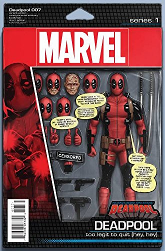 Deadpool #7 John Tyler Christopher Action Figure Variant Comic Book (Deadpool Toys Action Figures compare prices)