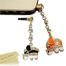 buy Mavis'S Diary Bling Cute Dust Plug Earphone Jack Accessories Cell Charms Dust Plug Ear Jack For Iphone 6 Plus 6S 5 5S Ipad Ipod Touch Samsung Series Other 3.5Mm Ear Jack (2 Pcs Elephant)