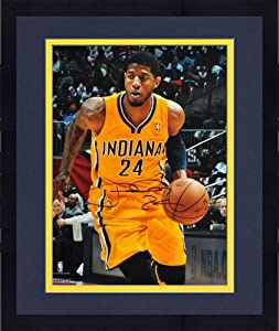 Framed Paul George Indiana Pacers Autographed 16