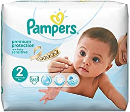 Pampers New Baby Sensitive Gr. 2 Mini 3-6 kg Tragepack, 4er Pack (4 x 28 Stück)