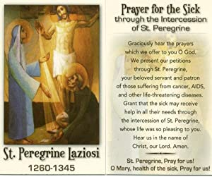 Holy Prayer Card Cancer Patron : Greeting Cards : Office Products