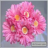 X5 single stem pink gerbera artificial silk