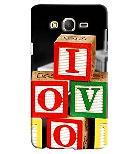 Clarks I Love You Hard Plastic Printed Back Cover/Case For Samsung Galaxy On 5