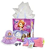 Disney Sofia the First Summer Fun Gift Bundle: Sofia Beach Towel, Sofia Sunglasses, Sofia Sun Hat & Reusable Tote Bag with Tissue Paper