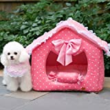 Katzenhöhle / Hundehöhle rosa in 2 Größen erhältlich (m) -