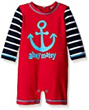Hatley Baby Graphic Anchors Rash Guard, Red, 18-24 Months