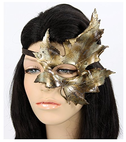 Handcrafted Leather Maple Leaf Mask