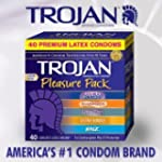 Trojan Condom Pleasure Pack Lubricate...