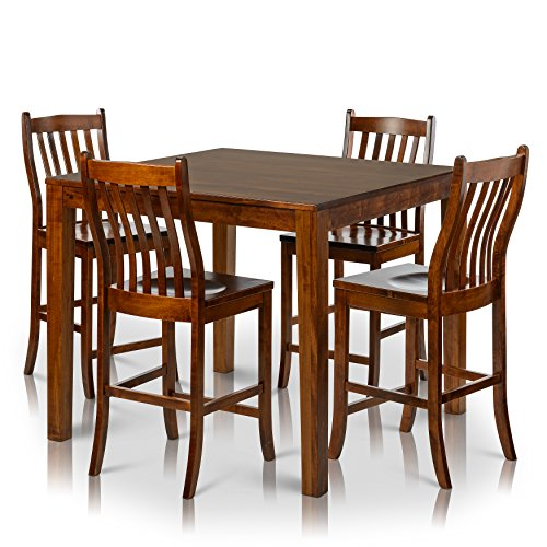 Counter Height Chairs Set Of 4 : ... > Counter Height Square Solid Maple Wood Table and Chair Set of 4