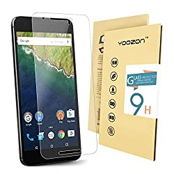 Nexus 6P Screen protector,Yoozon ' Nexus 6P Tempered Glass Screen Protector,0.3mm 9H Hardness Featuring Anti-Scratch, Anti-Fingerprint, Bubble Free
