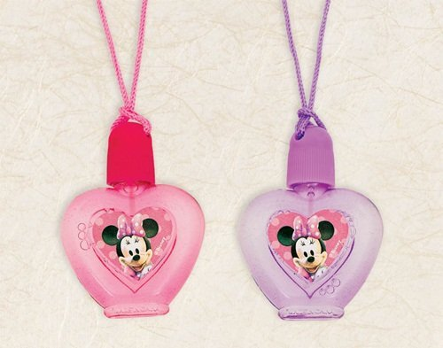 "Amscan Disney Minnie Mouse Bubble Necklace Party Favor, Red/Purple/Pink, 2"" x 2"""