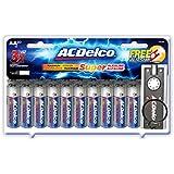 ACDelco AA Super Alkaline Batteries with Bonus LED Keychain Flashlight, 20-Count