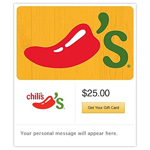 Chili's Grill & Bar Yellow Gift Cards - E-mail Delivery (Electronic Gift Cards Restaurants compare prices)