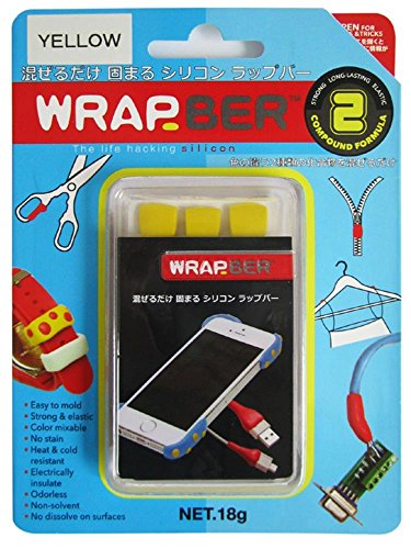 自由成形素材 シリコンねんど ラップバー WRAPBER 18g イエロー 450-154