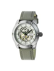 Android Men's Antigravity Automatic Tungsten Skeleton Leather Strap Watch