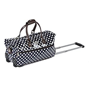 "Constellation 20"" Spot Printed Roller Wheeled Holdall Oil Cloth"